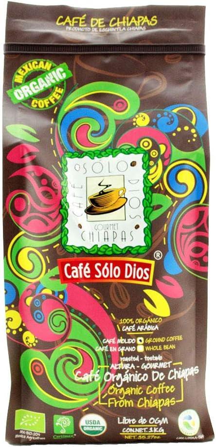 Café Solo Dios Café en molido de 1kg, Sabor Artesanal, 1 kilogramos: Amazon.com.mx