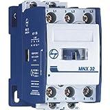 Tl L&T 12A MNx 12 1 No 240VAC 3 Pole Power Contactor, 5x10x5 (CS94108, White)