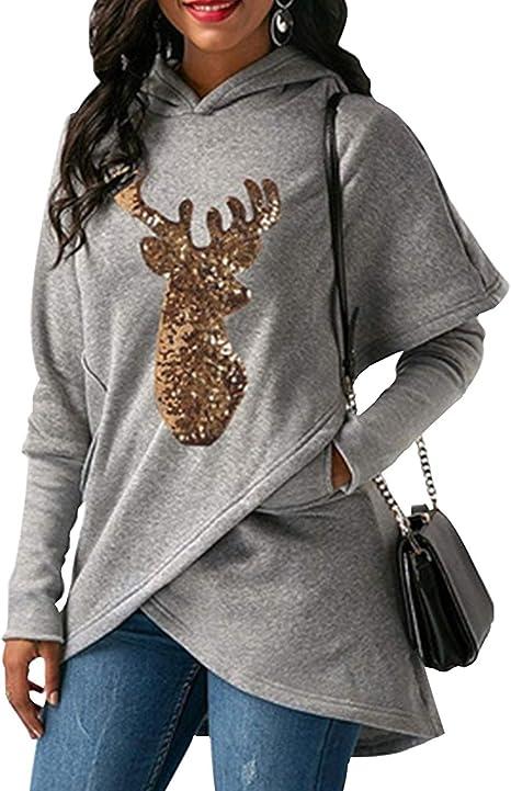 Siennaa Weihnachten Pullover Damen, Teenager Mädchen