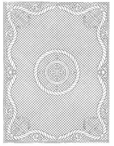 Pre-printed Wholecloth Quilt Top Anchors Aweigh White 40`` X 54`` by_123adam2007 by joimamory