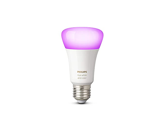 Philips Hue Lamp.Philips Hue White And Colour Ambience Single E27 Bulb 10w A19 16 Million Colours