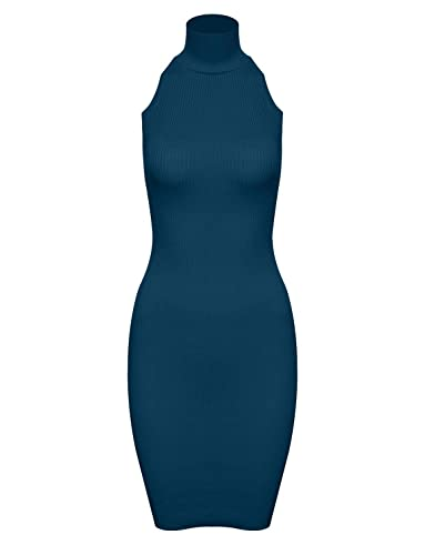Tom's Ware Womens BodyCon Sweater Halter Dress