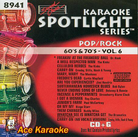 Sound Choice Karaoke Spotlight CDG SCG8941 - Pop/Rock 60's & 70's - Vol. 6
