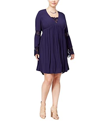 American Rag Womens Plus Size Contrast Lace Baby Doll Dress at ...