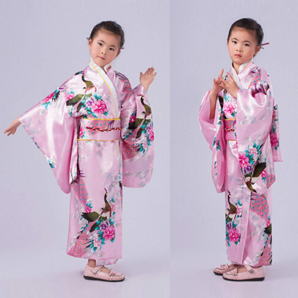 Singular-Point 2019 Baby Girls Dresses,Toddler Kids Baby Girls Outfits Clothes Kimono Robe Japanese Traditional Costume