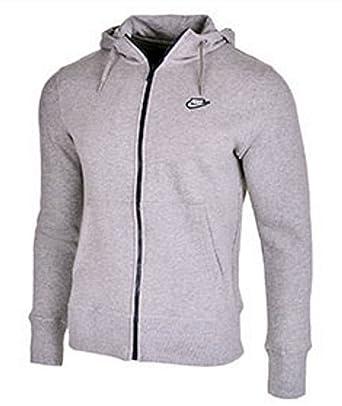 Nike - Sudadera polar con capucha y cremallera para hombre - Gris ...