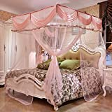 WENZHANG Household bracket mosquito net,Floor extension mosquito netting Double household keeps away insects & flies large screen netting bed canopy ultra large mosquito net-L