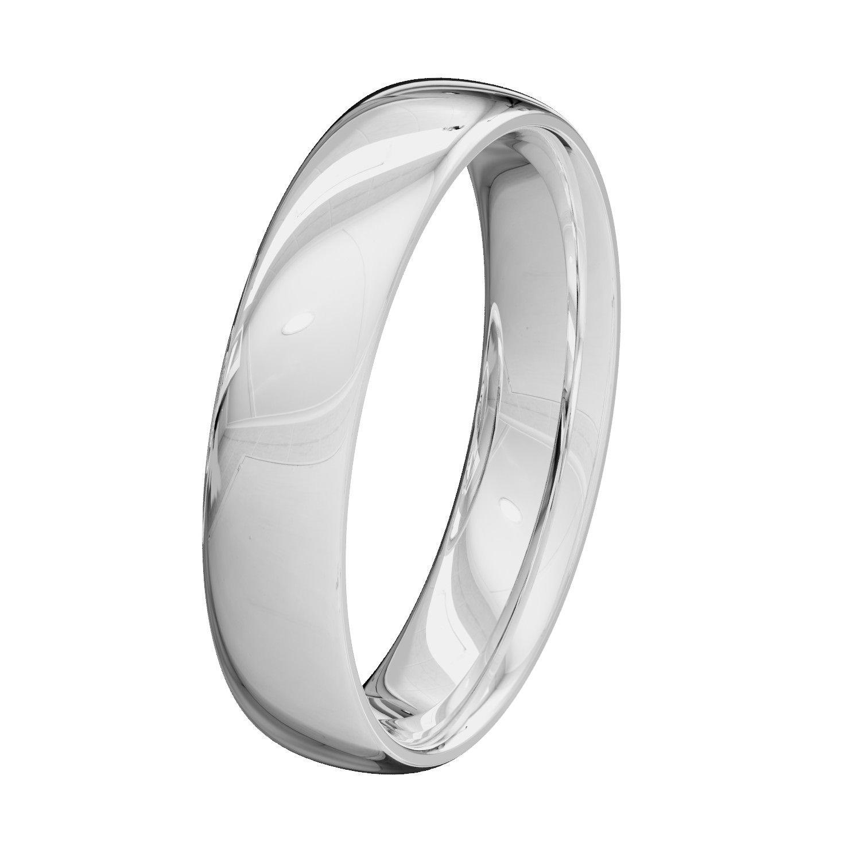 Court Comfort Shape Solid Hallmarked Band Palladium Wedding Ring 950