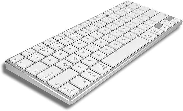 Teclado inalámbrico Bluetooth de Aluminio para Ordenadores Mac y Windows, Compatible con Apple Magic Keyborad A1644