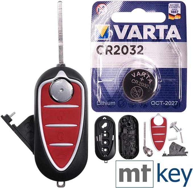 Repair Reparatur Satz Auto Schlüssel Austausch Gehäuse Mit 3 Tasten Rohling Batterie Kompatibel Mit Alfa Romeo