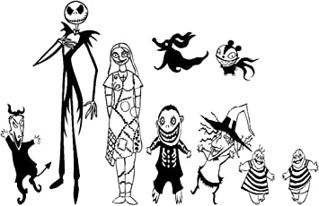 Decal Vinyl Jack Skellington Halloween Sticker Nightmare Before Christmas