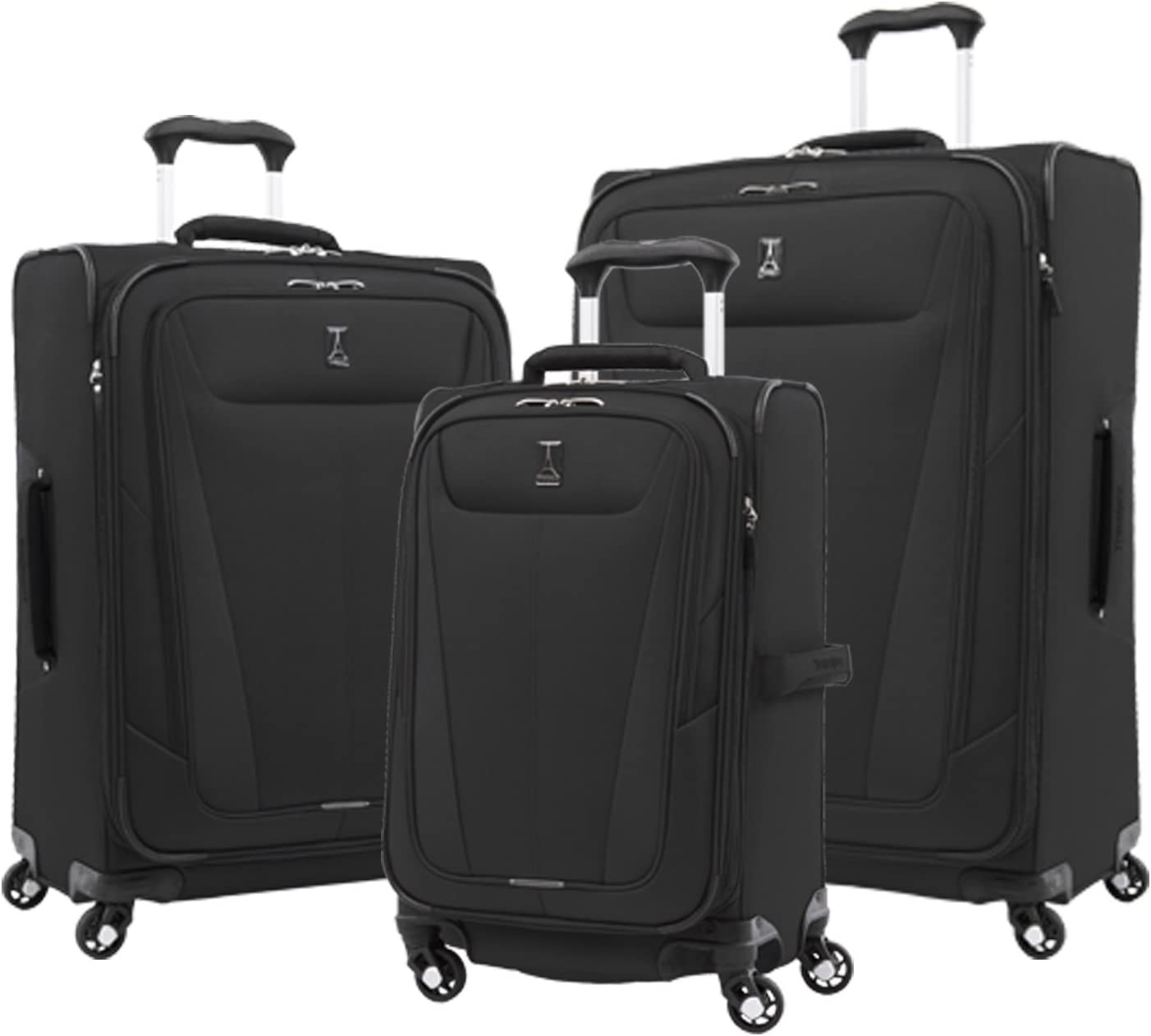 Travelpro Luggage Maxlite 5 3-PC Set 21 Carry-On, 25 29 Exp. Spinners Black