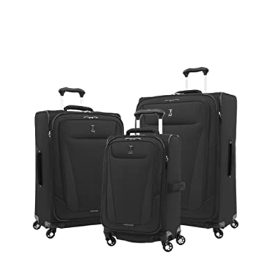Travelpro Luggage Maxlite 5 | 3-PC Set | 21  Carry-On, 25  & 29  Exp. Spinners (Black)