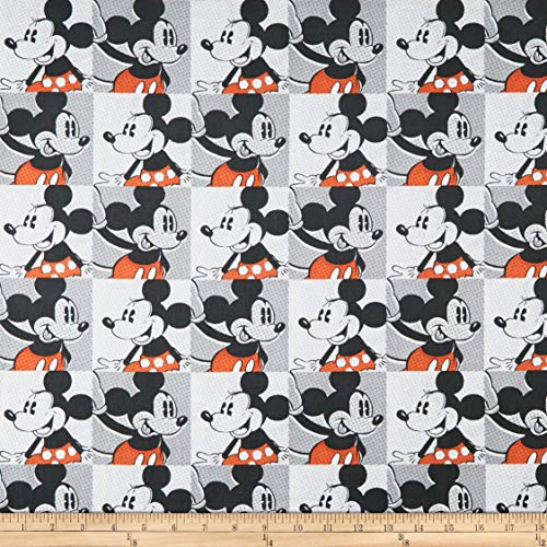 Springs Creative Products Disney Mickey & Minnie Vintage Mickey & Minnie Pop Art Fabric, Multicolor, Fabric By The Yard