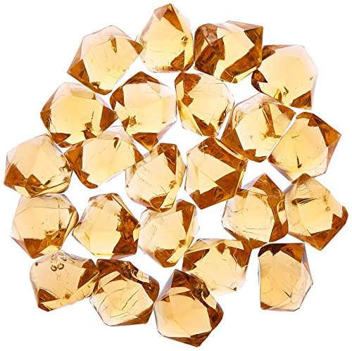 Firefly Imports Homeford 50-Piece Acrylic Crystal Ice Rocks Table Scatter, Copper Brown, 1-Inch