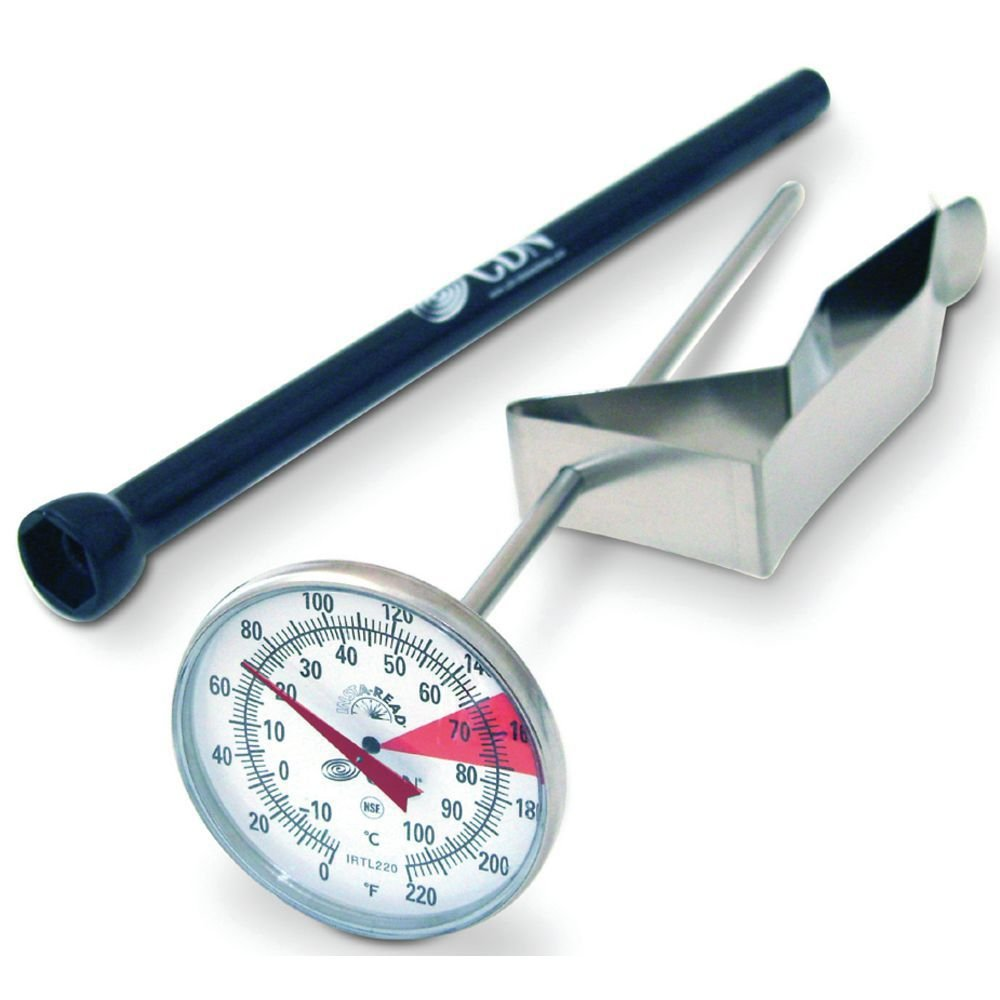 CDN ProAccurate Insta-Read Stainless Steel Beverage and Frothing Thermometer - 7'' L Stem