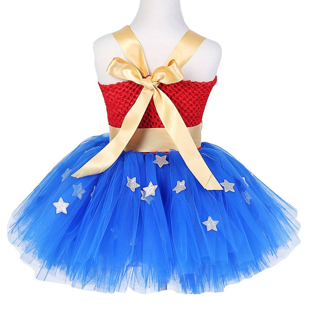 Moon Kitty Girls Captain America Costume Dresses Red by Moon Kitty (Image #2)
