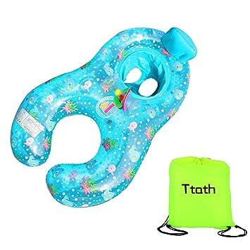 0-18 Meses Flotador de Natación Para Bebés Inflable Caja de seguridad suave madre bebé