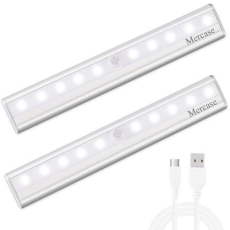 Mercase LED Sensor Luz del Armario USB Recargable Magnético Stick-on Anywhere