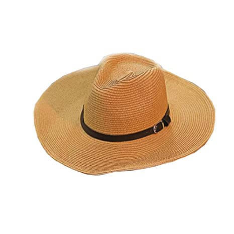 580bcd603f889e Amazon.com: DRAGON SONIC Men's Hats Beach Hat Straw Hat Foldable Cowboy  Breathable Hat: Sports & Outdoors