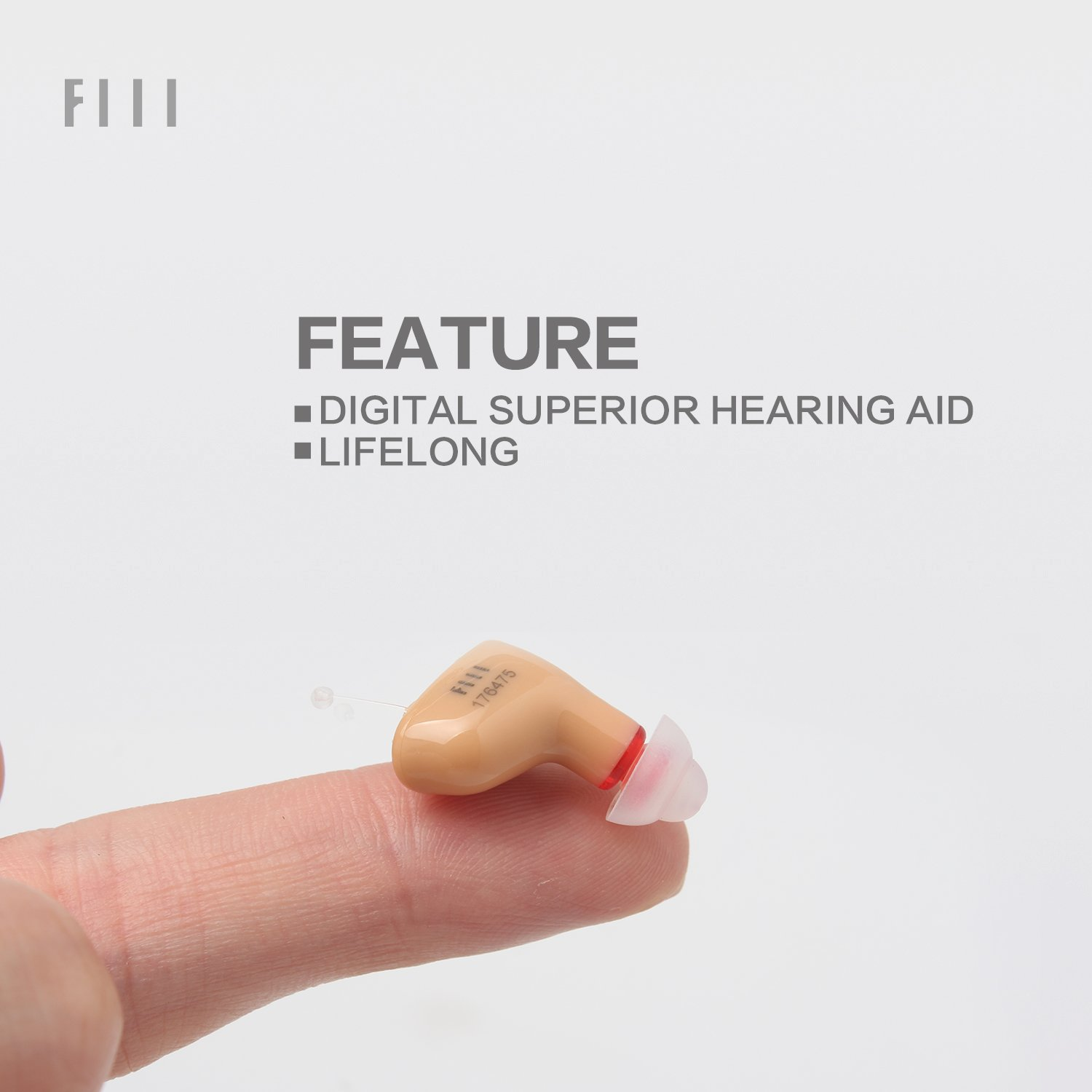 FIIL Hearing Amplifier Sound Amplifier in Ear Mini Portable Left Ear Right Ear Volume Adjustable Noise Reduction Audiologist Designed Intelligent (Right)