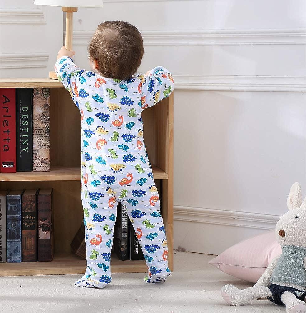 0e451e13659e Amazon.com  Baby Boys Footed Pajama - 100% Cotton Zip Front Sleep ...