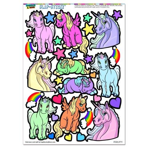 Cute Unicorns Rainbows SLAP STICKZ Scrapbook