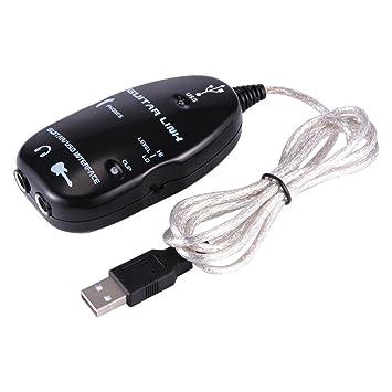 XCSOURCE® Guitarra Eléctrica a Interfaz USB Cable Adaptador de Cable de Audio para Grabación de la computadora del MP3 del micrófono AH262: Amazon.es: Hogar