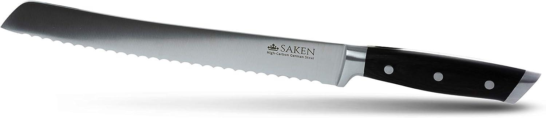 Saken Bread Knife - 10 inch Serrated in Luxury Gift Box Premium German HC Steel
