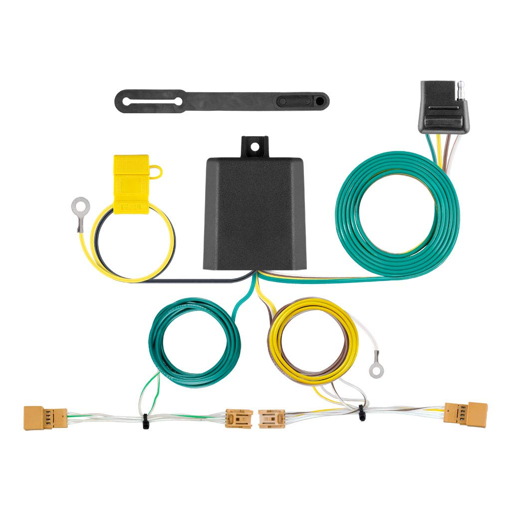 CURT 56404 Vehicle-Side Custom 4-Pin Trailer Wiring Harness for Select Audi Q5