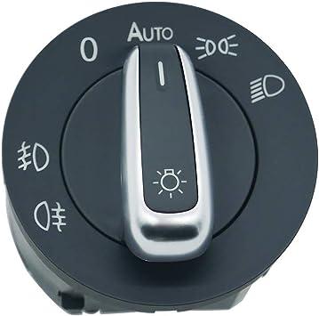 Zealfix Auto Lichtschalter Scheinwerferschalter Nebelscheinwerfer Hauptlicht Licht Schalter 5nd941431b Auto