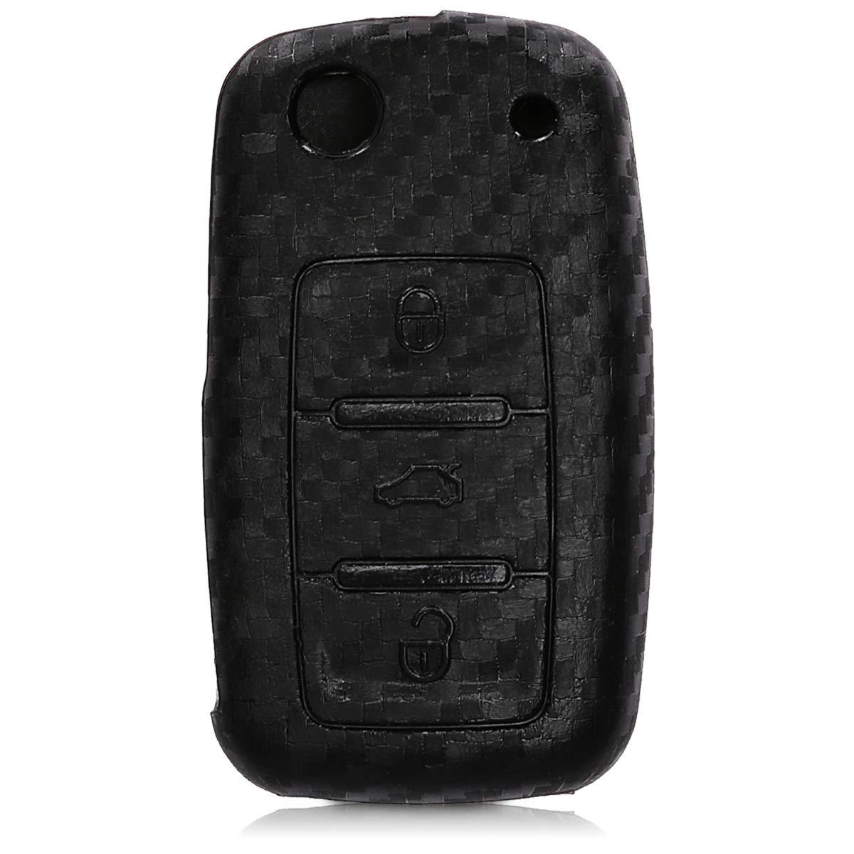 Carcasa Protectora kwmobile Funda para Llave de 3 Botones para Coche VW Skoda Seat Silicona Suave - Case de Mando de Auto con dise/ño Dont Touch my Key de