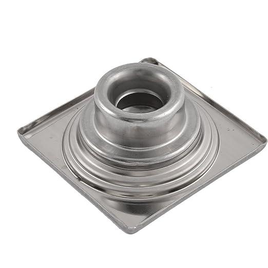 eDealMax cocina de acero inoxidable Baño Plaza fregadero Suelo drenaje de salida de Tamiz de plata del tono - - Amazon.com