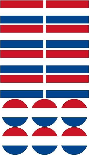 Haberdashery Online 28 Pegatinas de la Bandera de Holanda. Stickers para Bicicletas, Motos, Accesorios (Holanda): Amazon.es: Coche y moto