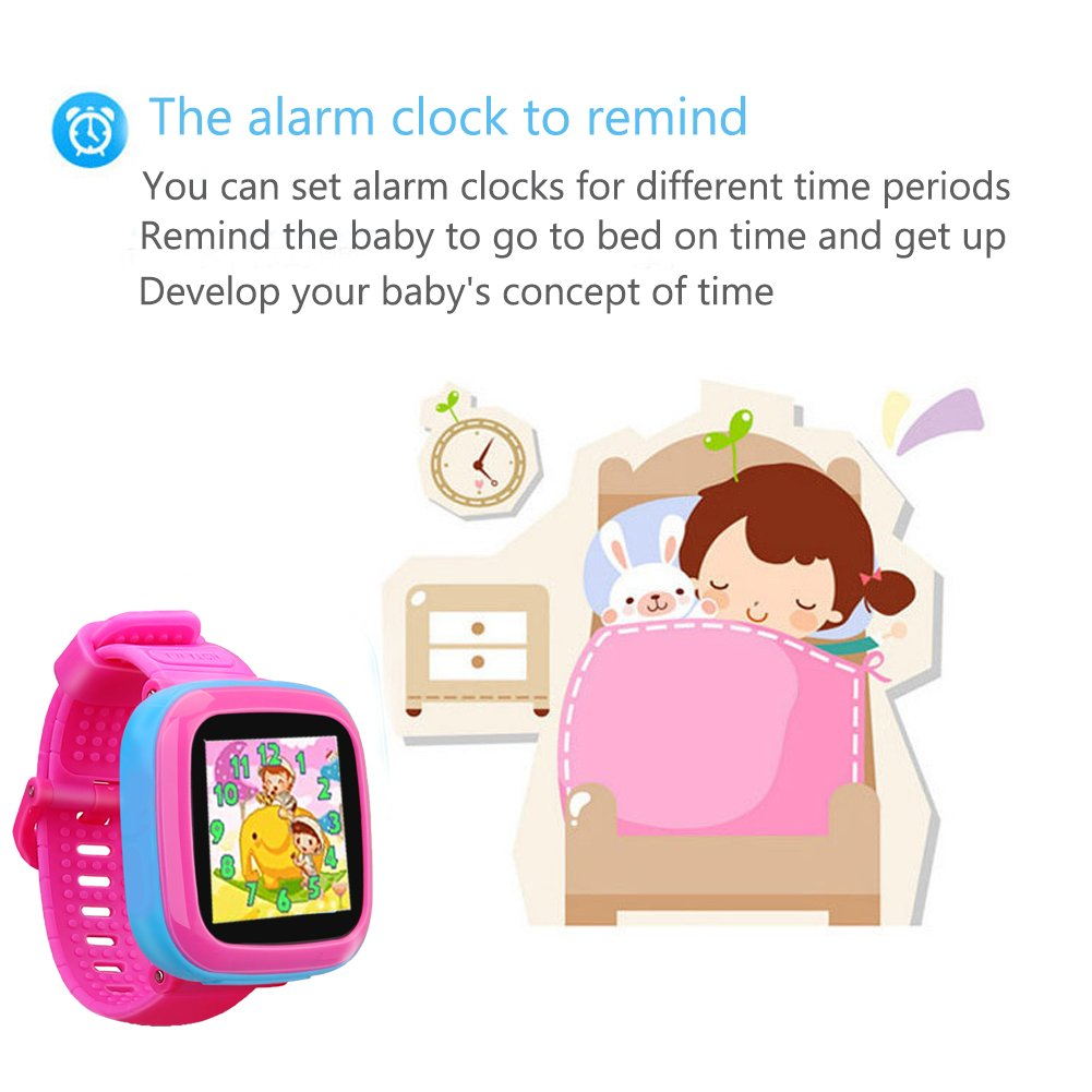 "Kids Game Watch Smart Watch For Kids Children's Birthday Gift With 1.5 "" Touch Screen And 10 Games, Children's Watch Pedometer Clock Smart Watch Kids Toys Boys Girls gift.(joint pink) by KKLE (Image #3)"