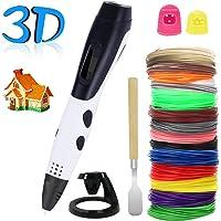 3D Stifte für Kinder,PullPritt 3D Stift Set mit LCD Display für Erwachsene, Bastler zu kritzeleien, basteln, malen und 3D drücken