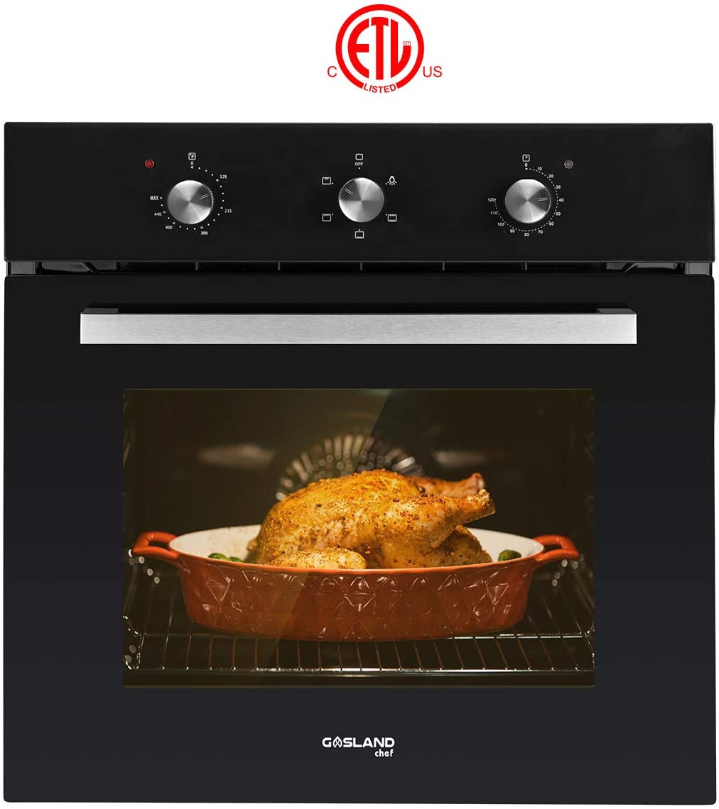 Electric Single Wall Oven, GASLAND Chef ES606MB 24'' Built-in Electric Ovens
