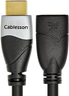 Câble de rallonge HDMI Ivuna Haut Débit 0.2m de Cablesson - 4k, 3D, Full HD, 2160p, HDR, ARC, Ethernet - (HDMI 2.1/2.0b/2.0a/2.0/1.4) pour PS4, Xbox One, Wii, Canal + HD, TVs 4k, LCD, LED, UHD - Noir