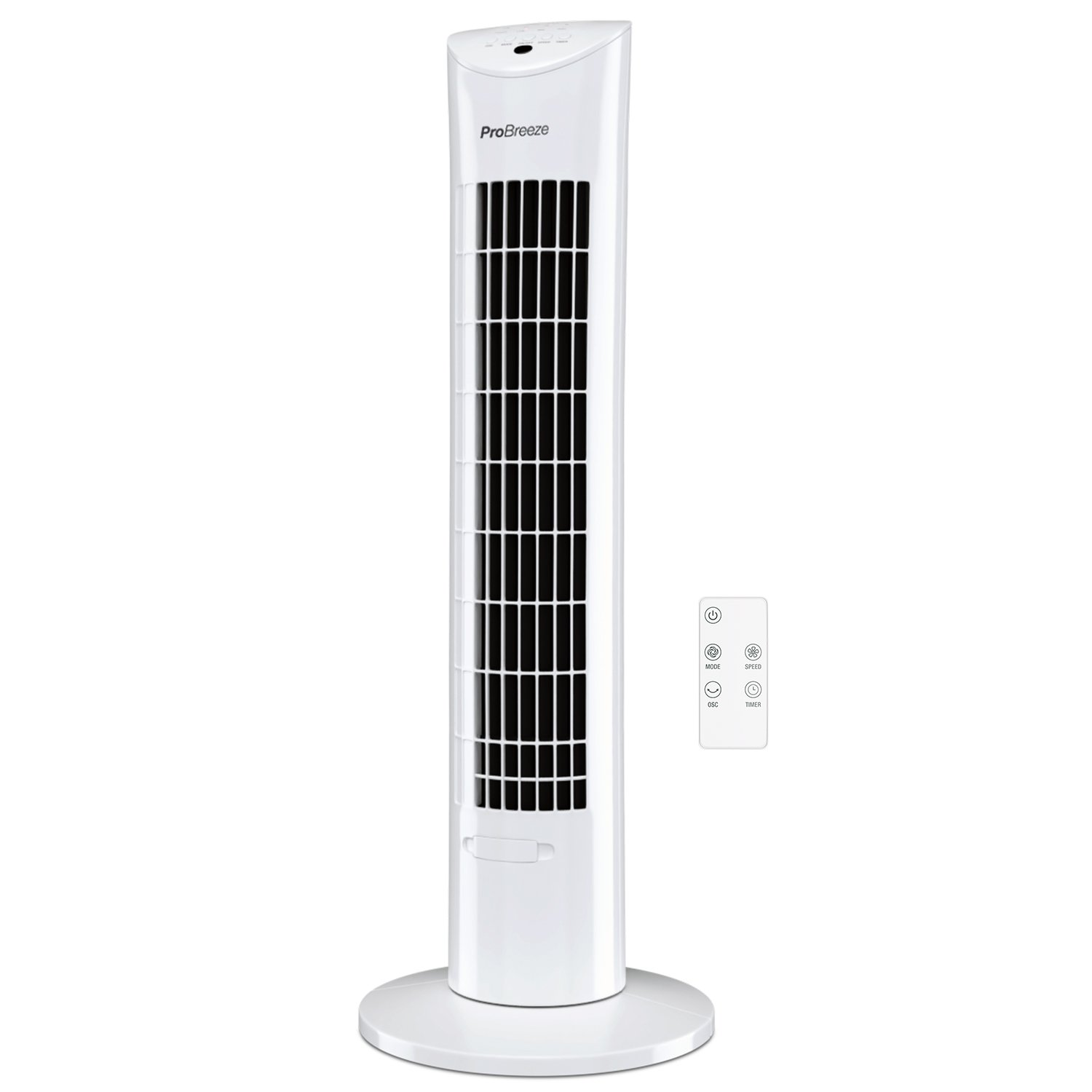 Pro Breeze Oscillating 30-inch Tower Fan with Remote Control and Timer for Home and Office