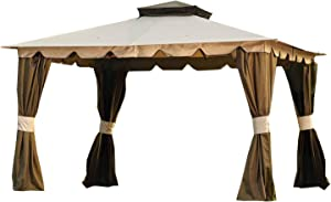 Garden Winds Replacement Canopy Top Cover for The Hampton-II 10' x 12' Gazebo - 350