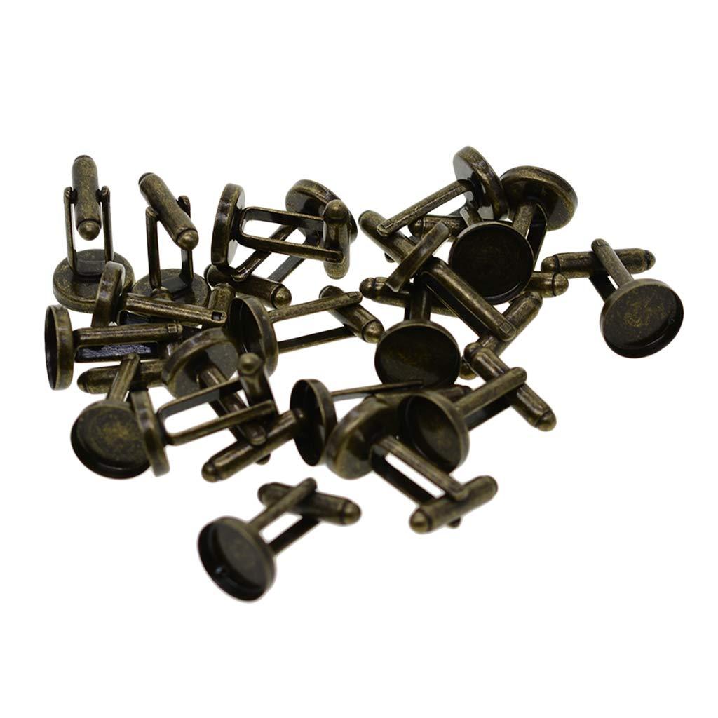 chiwanji Lot de 20 Boutons de Manchette Ronds 12 mm