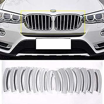 Cubierta para parrilla delantera de coche con lentejuelas para accesorios exteriores X3 F25 ABS cromado: Amazon.es: Coche y moto