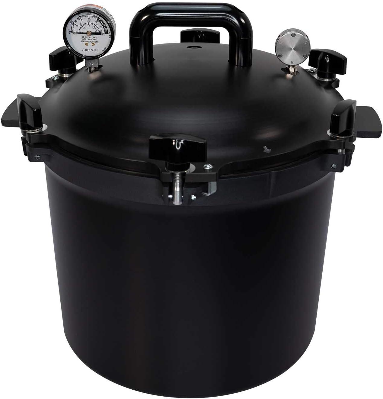 All American 921B Canner Pressure Cooker/Pressure Canner - (21.5-QT) Black
