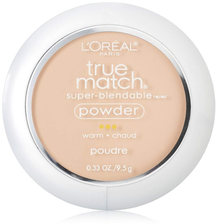 L'Oreal True Match Powder, Light Ivory [W2], 0.33 oz (Pack of 2)