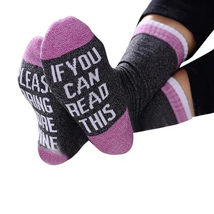 """Calcetines de algodón, shinericed para mujer para hombre Casual divertido """"si puedes leer"""