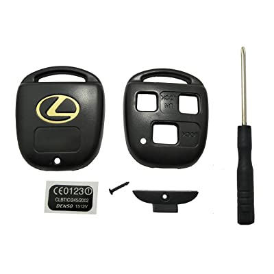 Horande Replacement Key Fob Case Shell fits for Lexus ES GS GX IS LS LX RX SC IS300 LX470 GX470 RX300 RX350 Keyless Entry Key Fob Cover Housing: Automotive