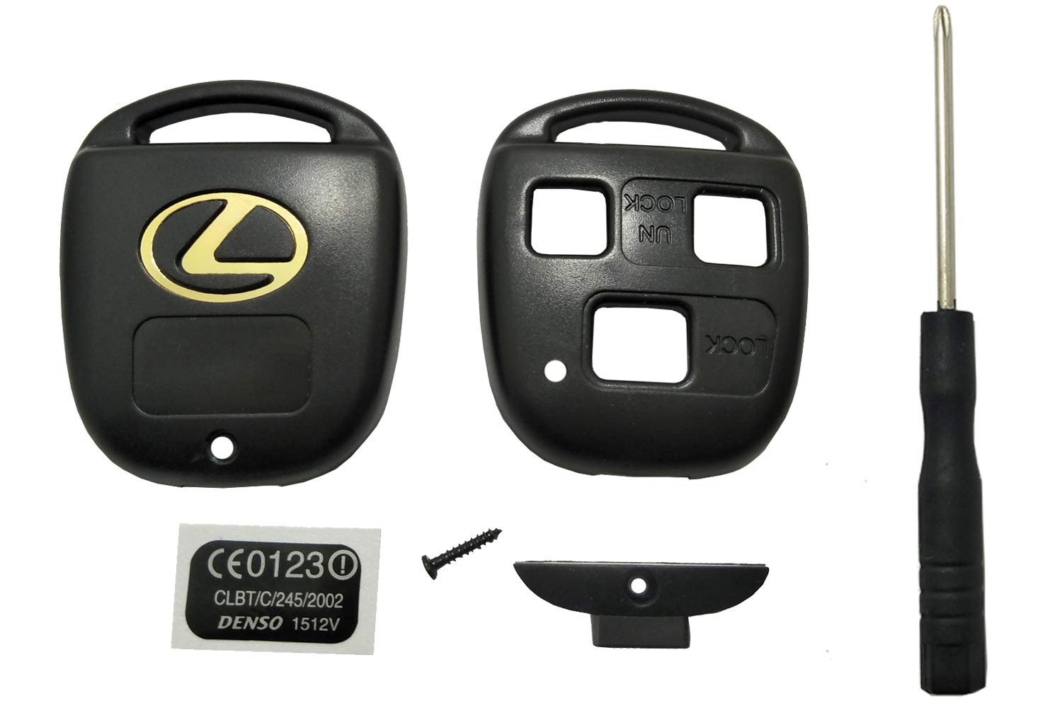 Lexus Key Fob Replacement >> Horande Replacement Key Fob Case Shell Fit For Lexus Lexus Es Gs Gx Is Ls Lx Rx Sc Keyless Entry Key Fob Cover Housing Without Blade