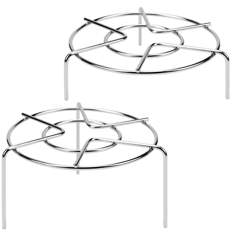 3 15/16'' & 1 3/4'' Tall Trivet Rack Stand, Heavy Duty Stainless Steel Multifunction Basket, Pressure Cooker Steam Rack by HULISEN