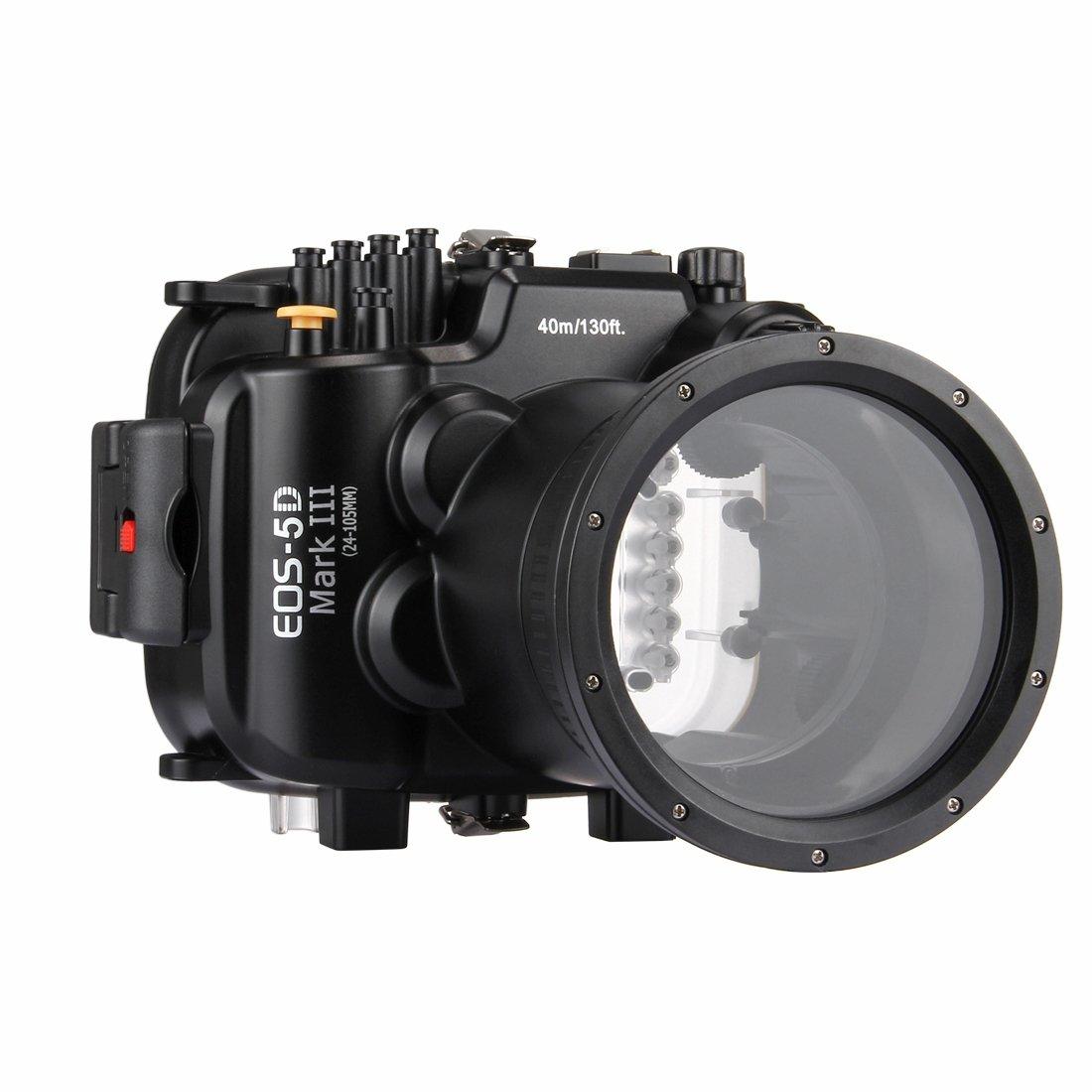 PULUZ 40m水中深度ダイビングケースCanon EOS-5D Mark III防水カメラハウジング(EF 24-105mm f / 4L IS II USM)   B07QML7N62