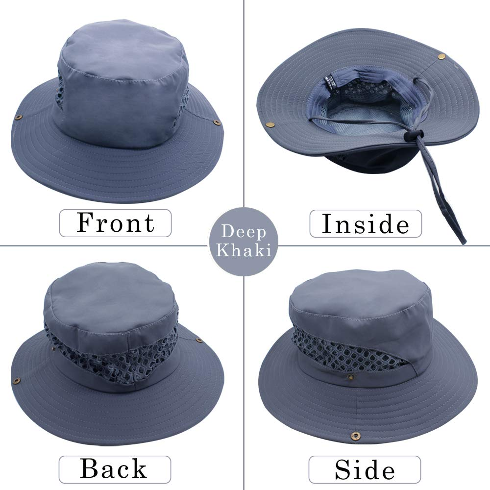 Protection UV Casquettes Chapeaux Unisexe /à Larges Bords pour Sports de Plein air /à s/échage Rapide Sun Hat UPF 50